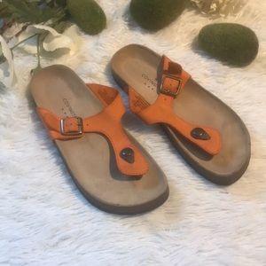 Covington Orange Sandals